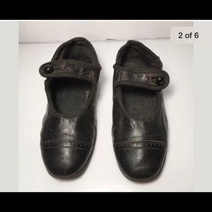 Antique Victorian LEATHER Baby MARY JANE SHOES